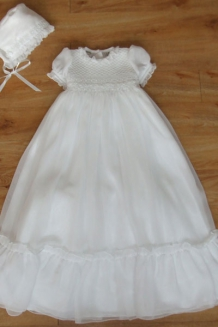 Smocking and beads gown
