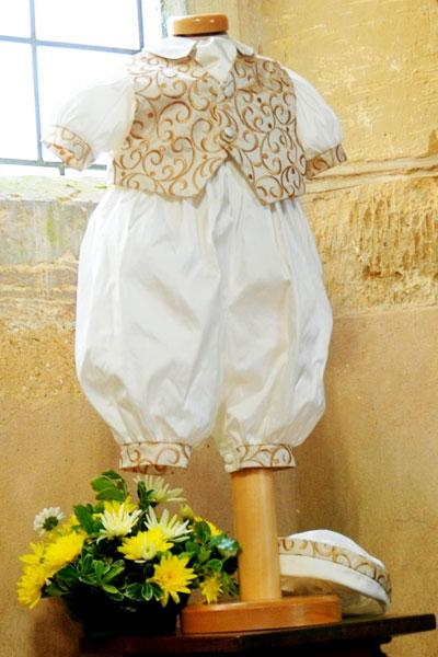 Gold waistcoat romper