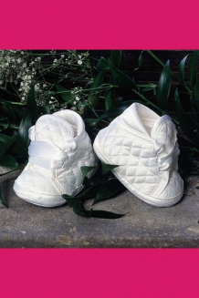 Boys quilted booties