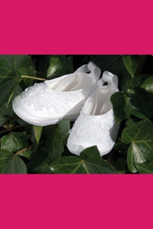 organza flower shoe