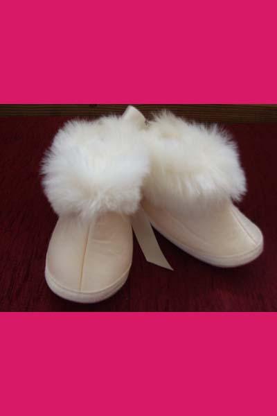 girls fur trim bootie