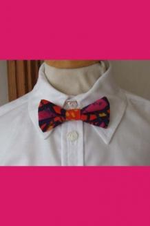 Red multicolour bow tie