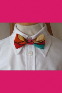 Red/gold multicolour bow tie