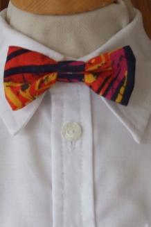 Orange multicolour bow tie
