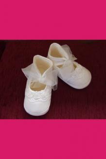 Girl's organza tie shoe